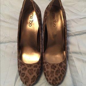 Beautiful platform animal heels